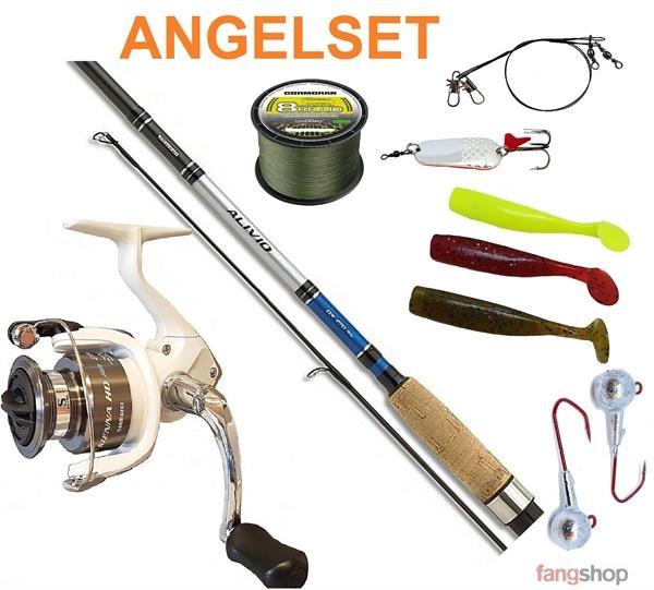 SHIMANO Angelrolle SIENNA HD2500 + Angelrute ALIVIO 2,10m 10-30g + viel Zubehör