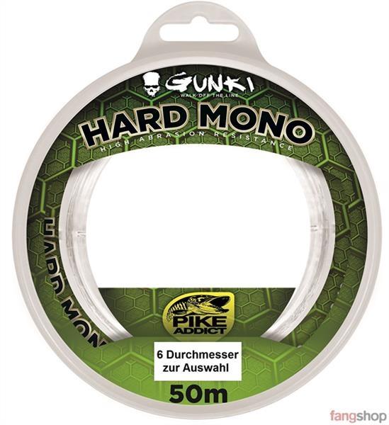 Gunki HARD MONO 50m monofile Vorfach Schnur Raubfisch Meeresangeln alle Stärken