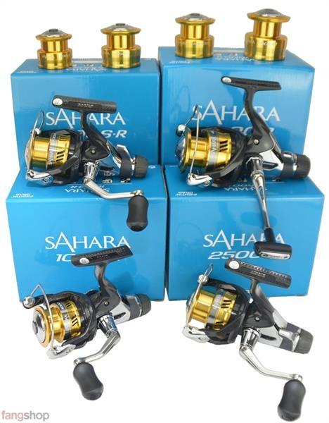 Shimano Sahara 1000 2500 3000 4000 R Spinnrolle Angelrolle Hecht Barsch Zander