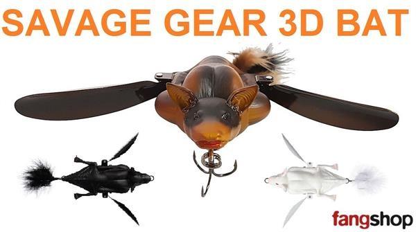 Savage Gear 3D Bat 7cm 10cm 12,5cm Fledermaus Raubfisch Oberflächenköder