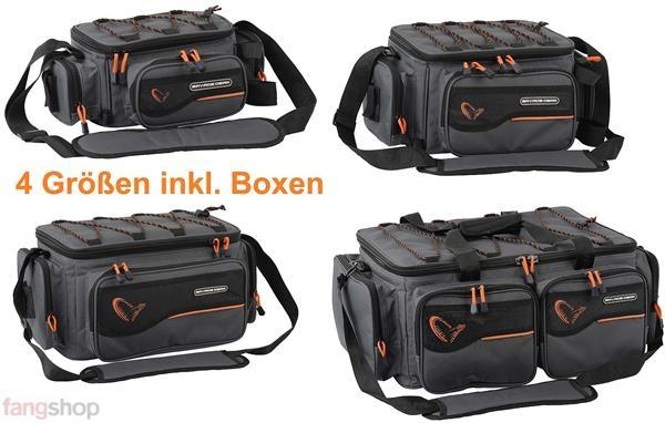 Savage Gear System Box Bag XL 25x67x46cm Tasche 3 Tackle Köder Boxen Cover