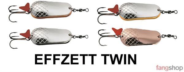 DAM Effzett Twin Doppel Blinker FZ 6g 16g 22g 30g 45g 60g Silber Gold Kupfer NEU