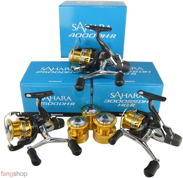 Shimano Sahara 1000 2500 3000 4000 R DH Double Handle Kampfbremsrolle Spinnrolle