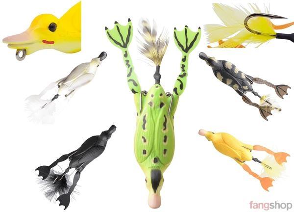 Savage Gear 3D Hollow Duckling The Fruck 7,5 cm 10 cm Gummiköder Ente Frosch