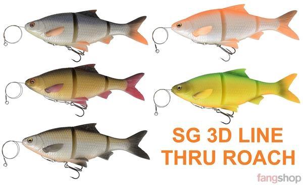 25cm Gummifisch Kunstköder Savage Gear 3D Linethru Roach 18cm Hechtköder